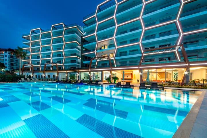 Hexa Panora 1+1, Alanya - Antalya - Apartemen