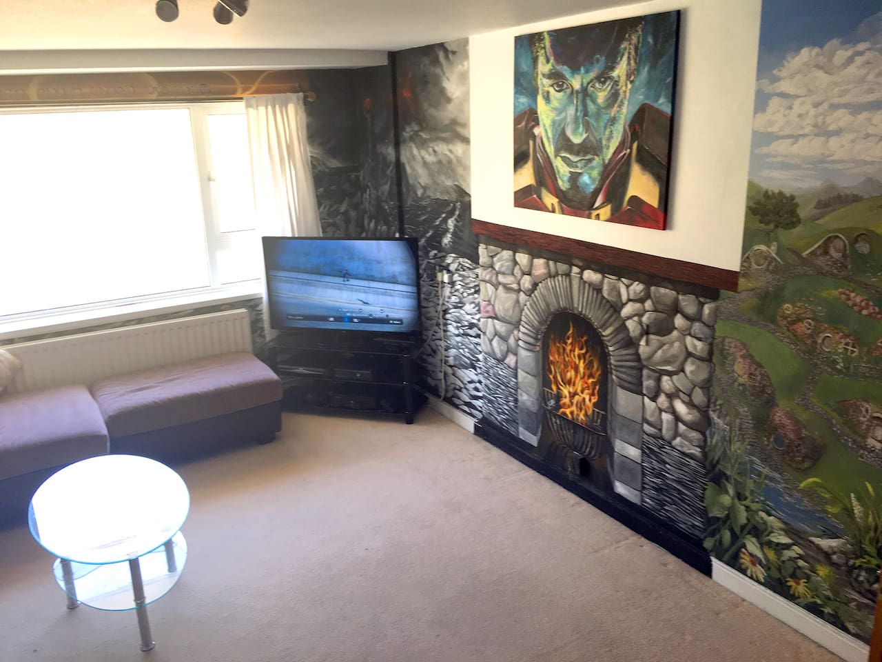 Hand Painted Fireplace
