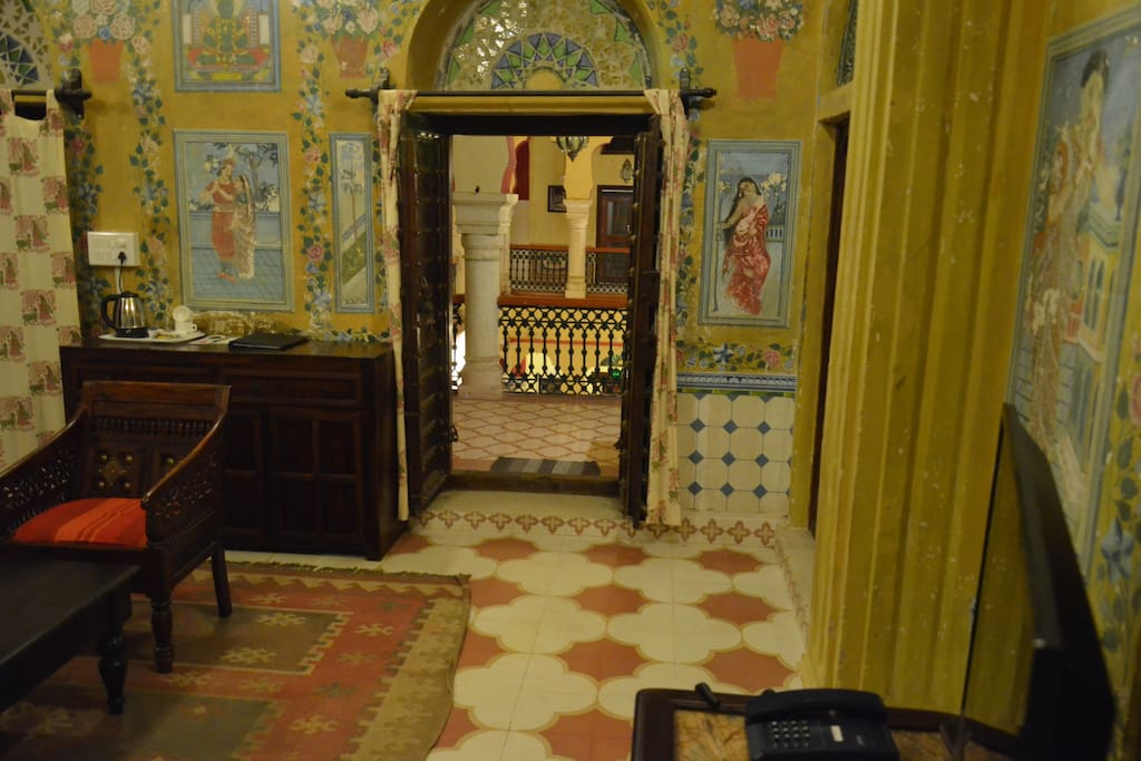 Entry from 1st floor of main haveli