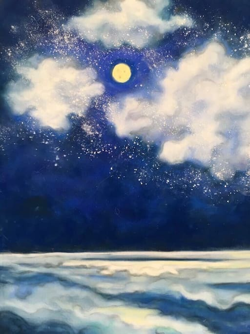 Moon over Whidbey. SOLD