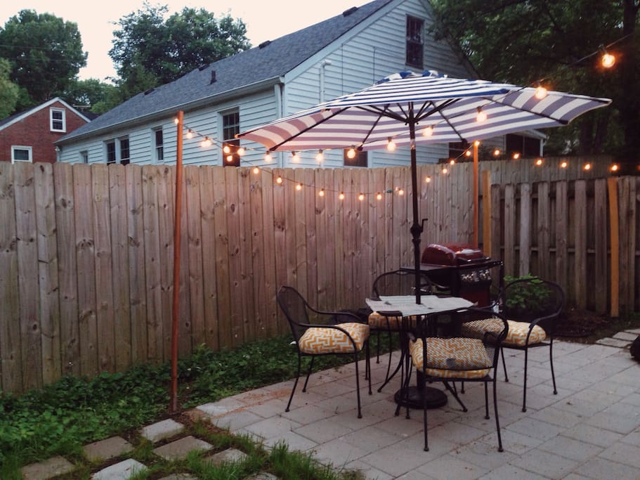 Grill and dine on the patio.