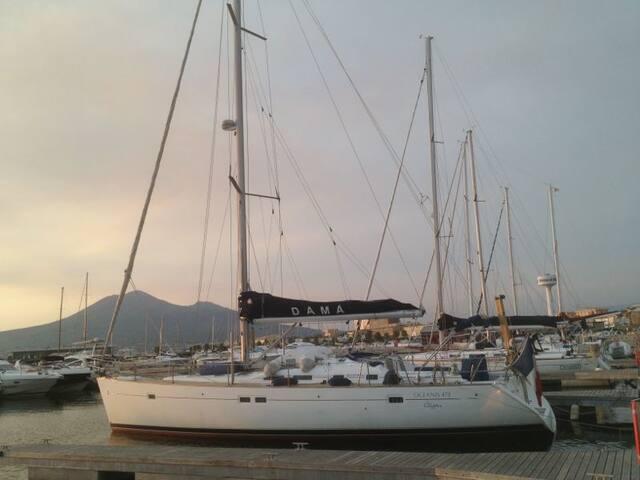 SAILING BOAT IN NAPLE'S BAY - Castellammare di Stabia - Båt