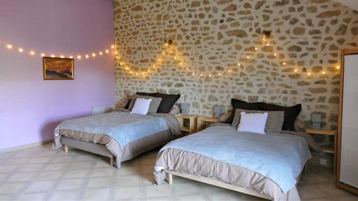 Chambre Lilas - Chambres d'hôtes du Masvaudier
