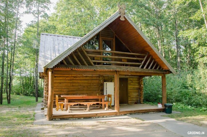 Деревянный дом с русской баней в 20 км от Гродно - Grodno - Casa