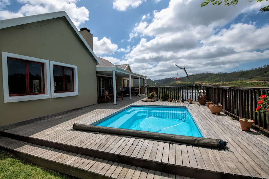 Pool and Deck in the Summer
