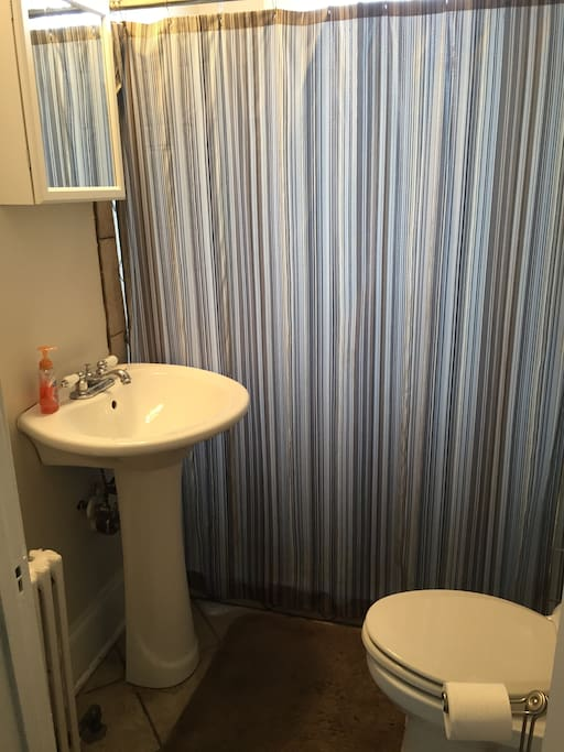 Bathroom shared with second guest room