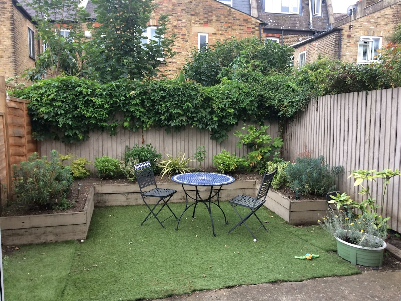 Shared garden space that is for the flat residents only