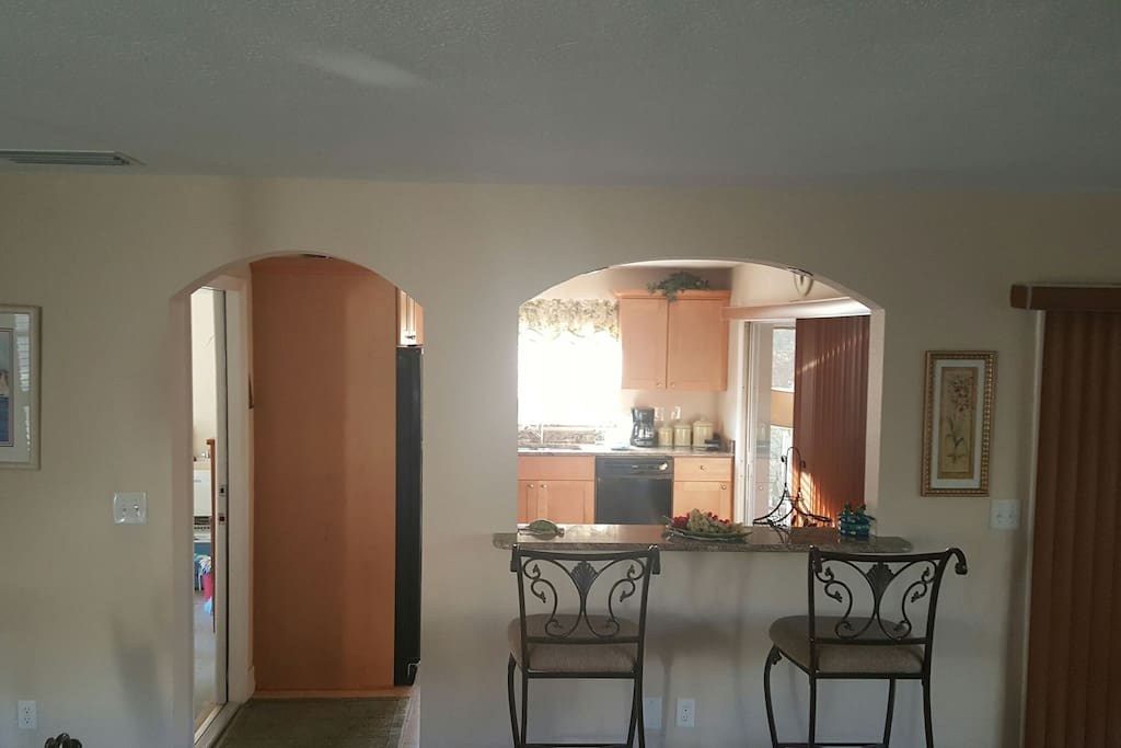 Living room to Kitchen Area