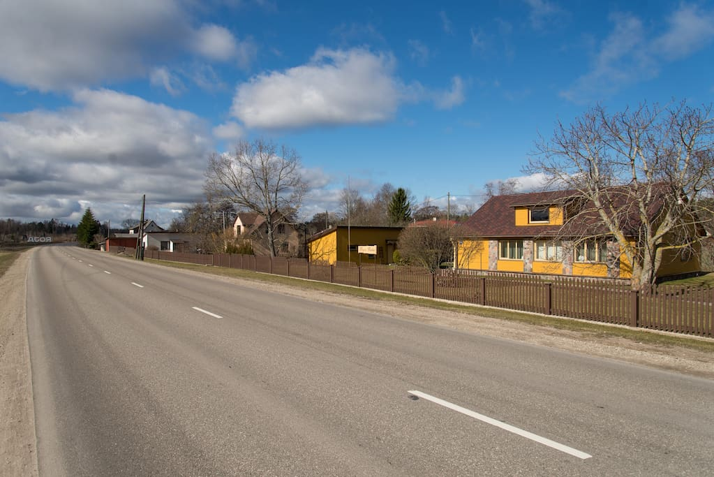 The way to city Talsi