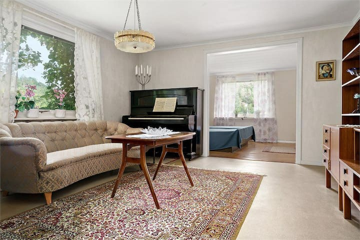 Bright and nice living room on the first floor.