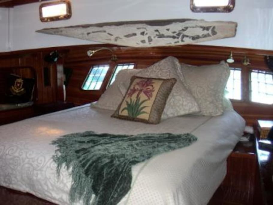 Fine linens and bedding. The vessel is spotless.