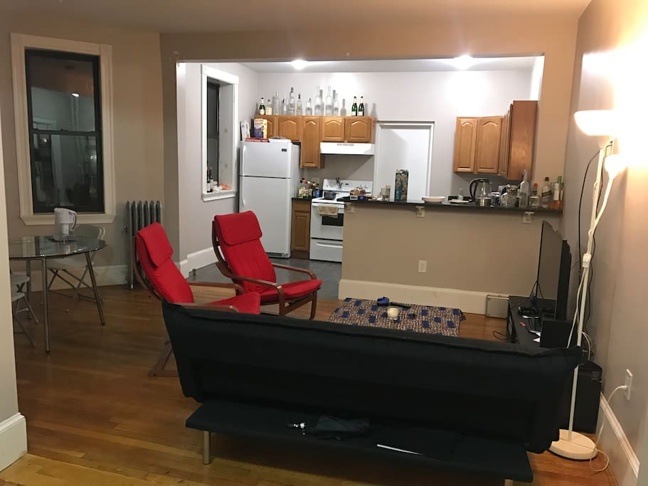 Common shared living room/kitchen.