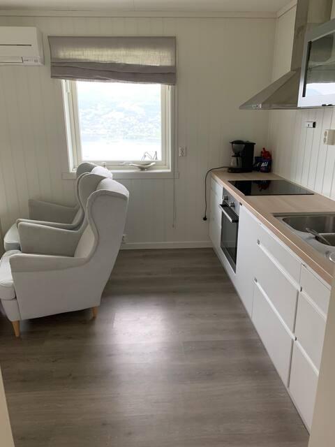 Kjeller leilighet med fin utsikt over Voss