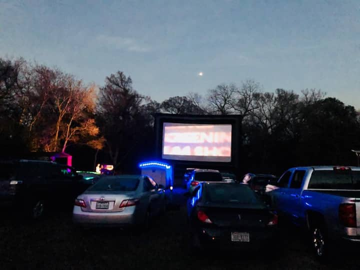 Austin's Drive-in Theater Glamping Experience!