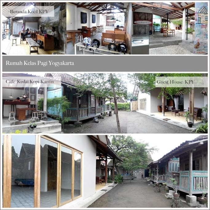 In Our Creative Space : we have 2 [ two ] wooden hut | Facility : 2 single bed + fan + FREE HIGHSPEED WIFI + shared bathroom | check visual report of out creative space activity : https://goo.gl/d9JYmQ