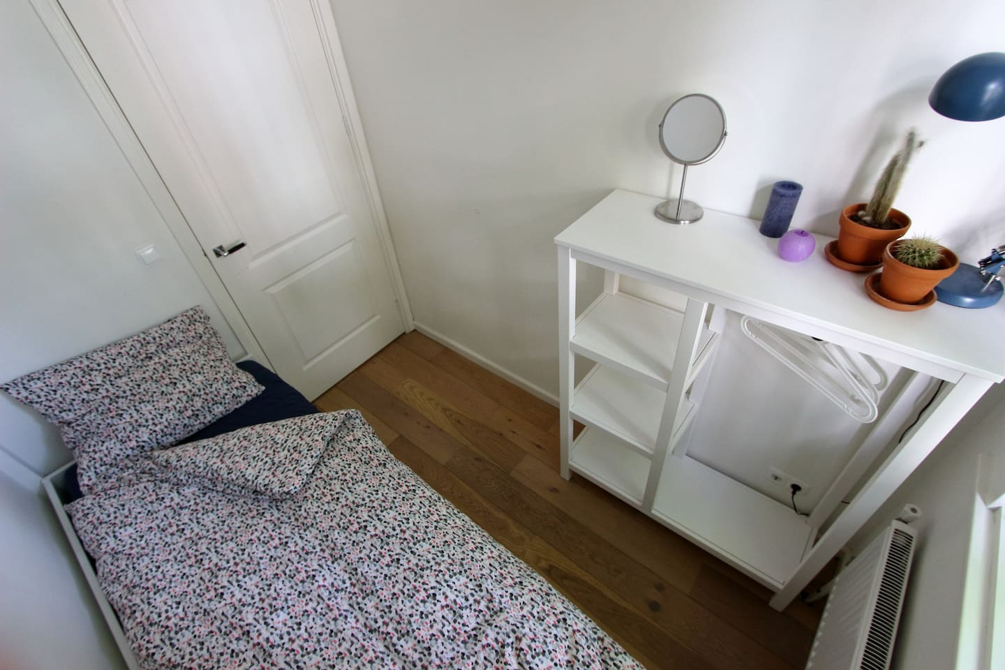 Your private room with a single bed.