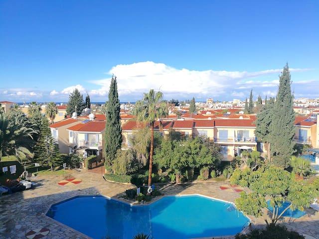 Paradise Gardens 1, penthouse, sea view, Paphos