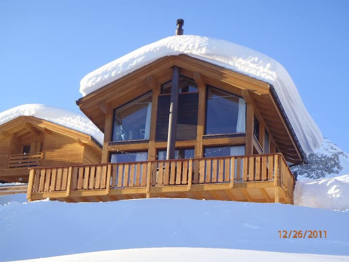 A Modern Luxury ski in/out chalet at 2000 metres