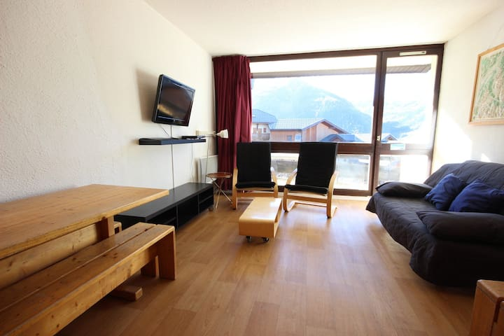 Charming 4 rooms apartment in Plan Peisey close to the pistes and shops