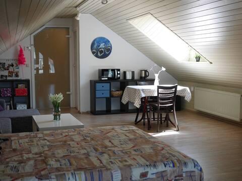 50m² Zimmer mit eigenem Bad und separatem Eingang