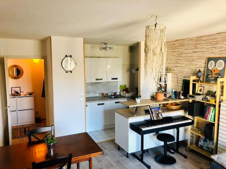 2P meublé avec balcon - Neudorf/Rivétoile