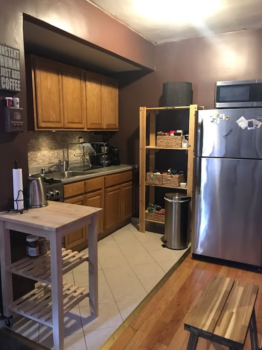 Kitchen with all major SS appliances