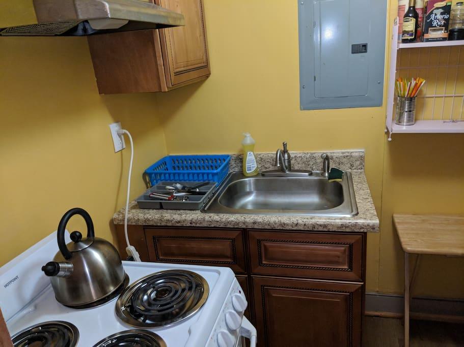 Clean, efficiency kitchen