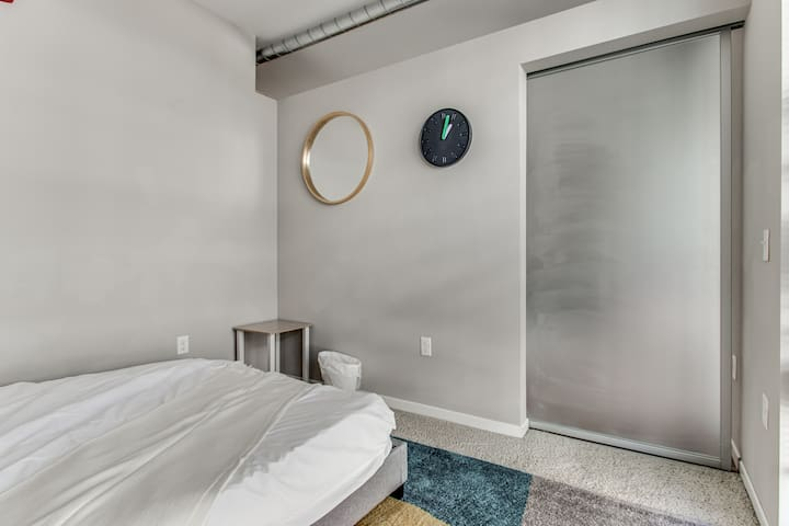 We have a sliding bedroom door - super modern design