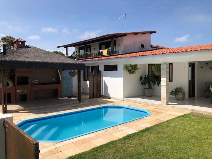 Casa com vista para o mar na ponta de Serrambi