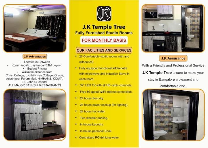 ⭐J K TEMPLE TREE11/COUPLE FRIENDLY 1RK STUDIO ROOM