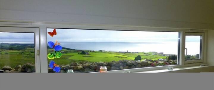 Landlig hus på vest-Lista med panoramautsikt