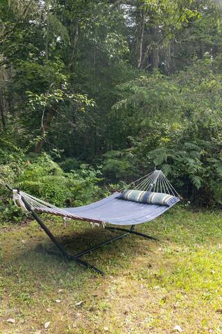 Nap in our hammock under the trees or stars.