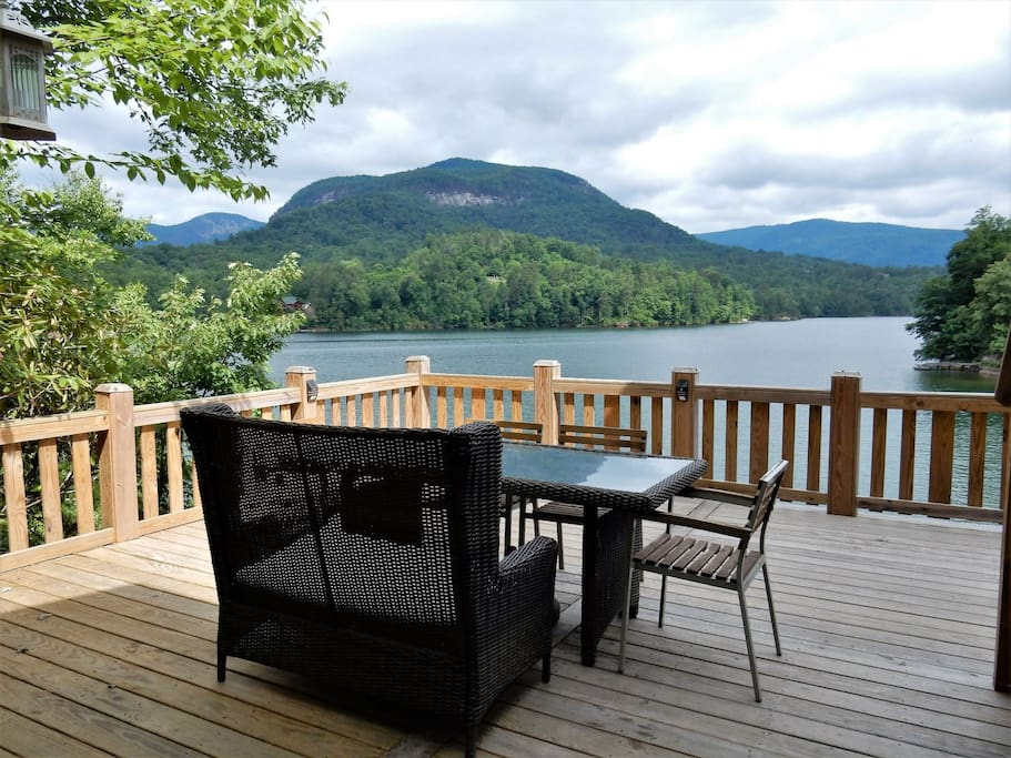 This home is about enjoying the lake and beauty of the area.