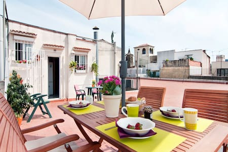 Central Penthouse flat-huge terrace in Gothic Dt. - Barcelona - Apartment