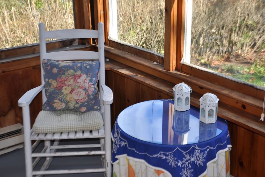 Our screened porch is an awesome place to relax in 4 seasons