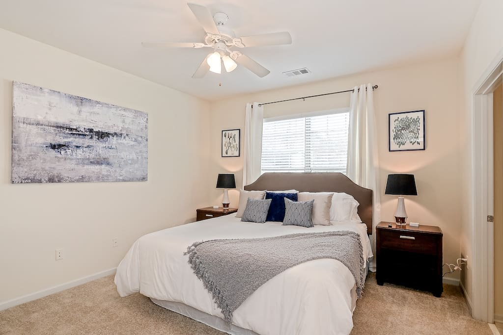 King size bed - Brand new memory foam mattress.