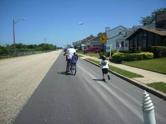 We always take one bike up to the beach, 1 1/2 blocks,  someone always wants something!!!
