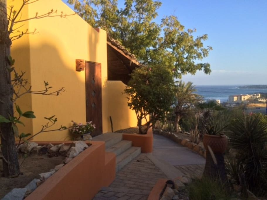 Exterior, and entrance to your private casita with ocean view!
