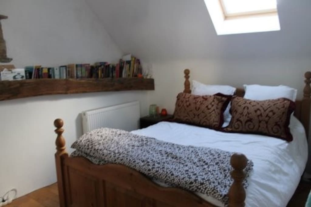 The master bedroom, with a memory foam mattress