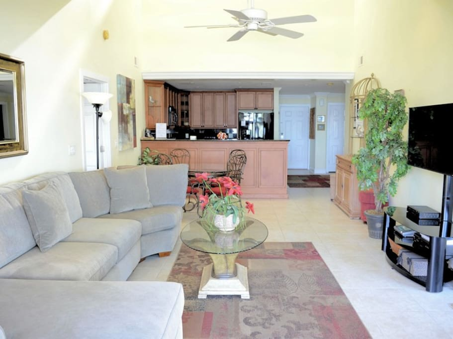 Living Room, Dining Area and Kitchen at 1898 Beachside Tennis