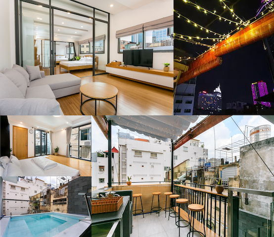 2 story Penthouse - Private Rooftop & Mini Pool