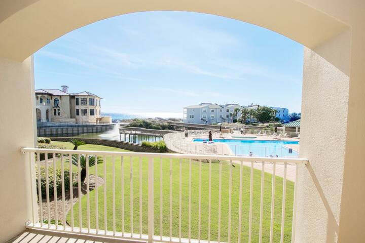 Pool & Gulf Views for 6! *OPEN (PHONE NUMBER HIDDEN)!* Hidden GEM on 30A w/2 Bikes - Santa Rosa Beach - Apartament