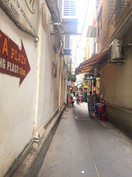 Clean alley, many shops