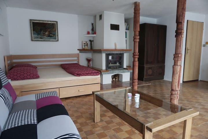 Private apartment in small Liptov village