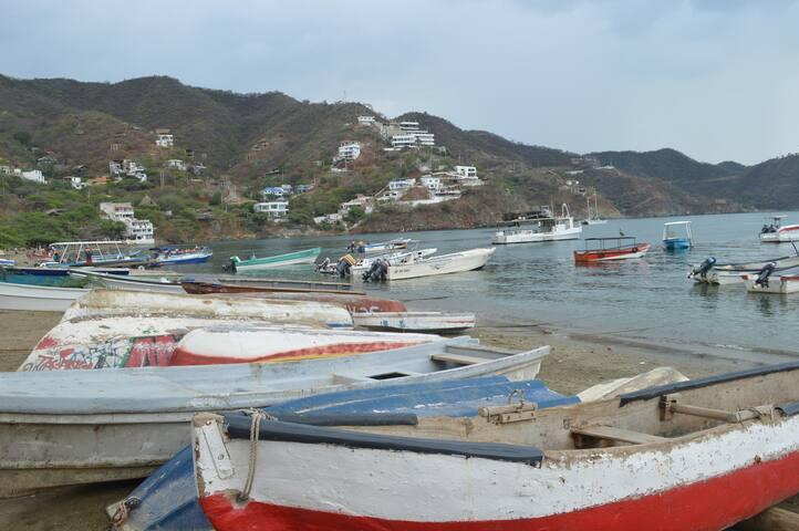 Botes en la Bahía de Taganga