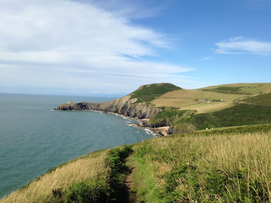 View from the nearby coast path
