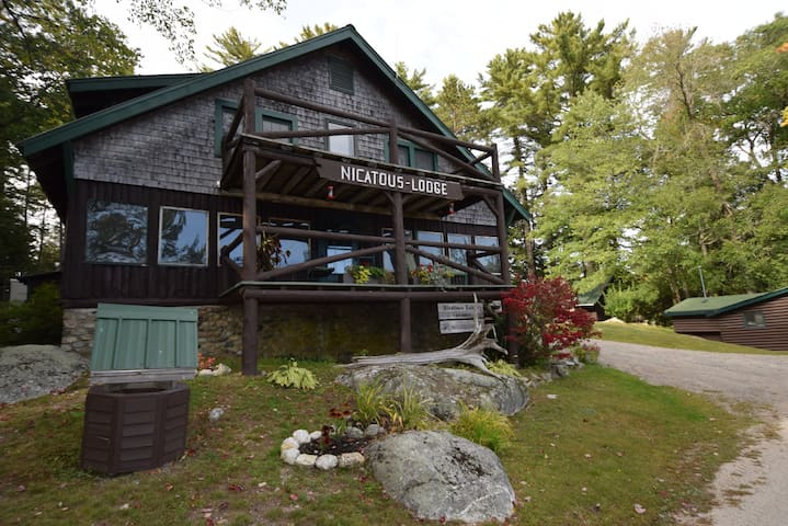 Off the grid, Authentic Maine Lodge plus 8 cabins