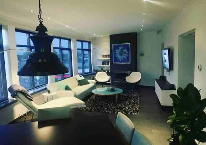 Penthouse in city centre with city park view