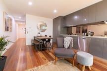 Modern, ground floor apartment.