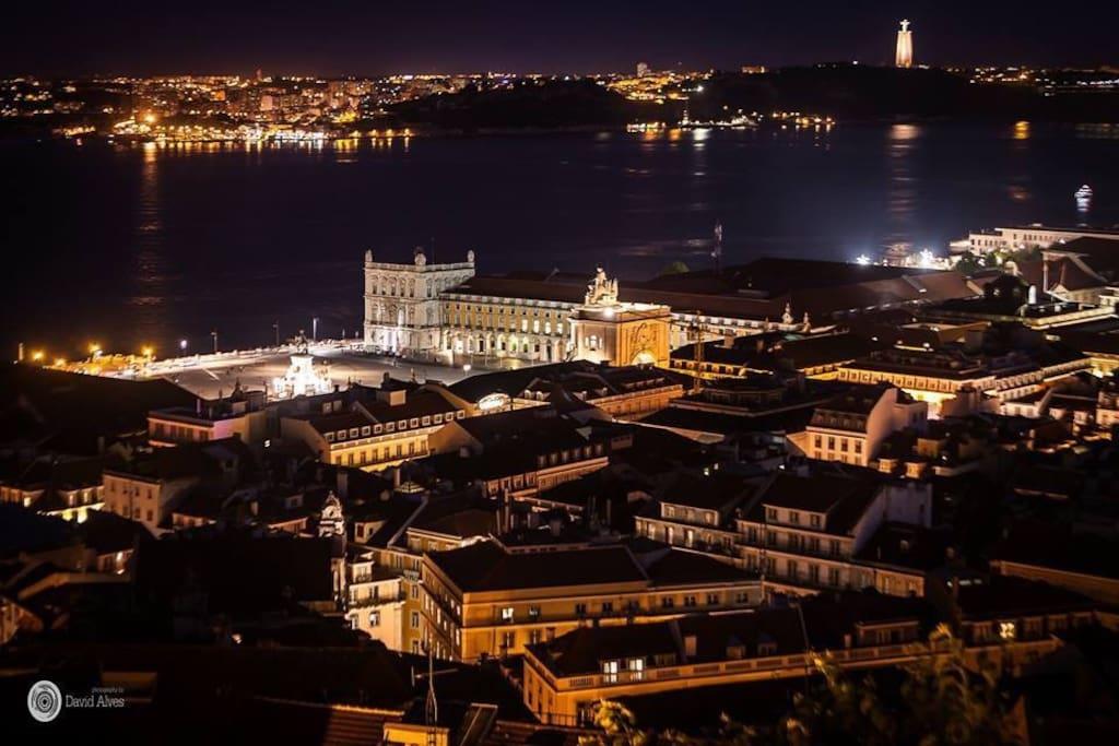 Lisbon by night.